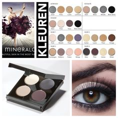 #Quad, #Mineralogie #Eyeshadow #Colors #Make-up #Mineral