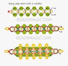 Free pattern for beaded bracelet Sedge | Beads Magic#more-9057