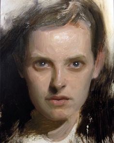 Stunning portrait by Nick Alm. #oilpainting #painterly #contemporarypainting #nickalm #portraitpainting by florenceacademyofartus