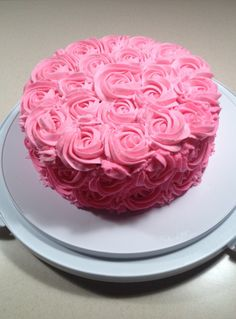 Rose Swirl Cake- Buttercream filling   $45.00  On Facebook search Cake Princess and please like my page.