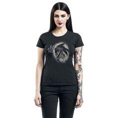 """Maglietta donna a maniche corte nera """"Skeleton Bird"""" dei #Katatonia."""