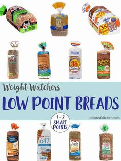 Want to eat bread? Worried that you can't when following the Weight Watchers program? Well, with this list of over twenty Low Point Breads, you no longer have to worry about going over your Smart