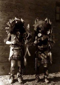 picture of Tesuque Buffalo Dancers.  It was created in 1927 by Edward S. Curtis.