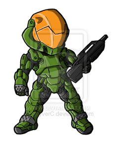 Chibi Spartan III SPI Armor by *GuyverC on deviantART