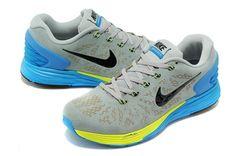 outlet store 536e0 d9fff Nike Black Shoes Mens Air Lunar Glide 6 2015 New Gray Sky Blue,  80.61