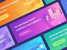Bitcoin Banners / Facts designed by Walid Beno. Connect with them on Dribbble; the global community for designers and creative professionals. Banner Design Inspiration, Landing Page Inspiration, Japan Design, Ad Design, Design Color, Logo Design, Linkedin Banner, Promotion Card, Card Ui