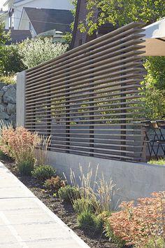 Moderner Zaun und Bepflanzung Mehr