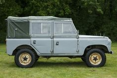 """Very rare Land Rover Series 100"""" soft top canvas cabine."""