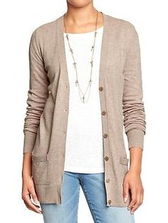 Women's Boyfriend Cardis | Old Navy A lot of colors, $19. Purchased black, tan, and grey September 2014.