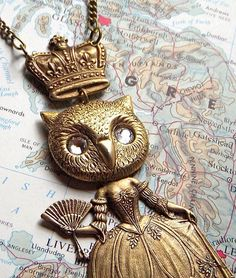 Steampunk Necklace Gothic Victorian Owl Queen by CosmicFirefly, $55.00,,,WOW,,Love it,,,,,