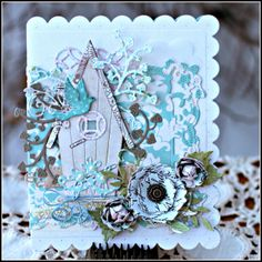 #cheeryld My project today is inspired by my dreamy thoughts of Spring. Dies used: Birds of Earth and Sky - B349; Scalloped Rectangle - DL199; Fiona's Magic Mirror - FRM140; Classic Birdhouse - B419; Concentric Circles Mesh - B402; Princess Tree - B180; Olive Branches - B147; Rose Leaf Strip - B241; Cherry Blossom - B129; Tiny Fanciful Flourish (Left and Right) - B387; Mini Fanciful Flourish Right - B291; Medium Rose - B154; Sentiment Frame 1 - B189... http://www.cheerylynndesigns.com