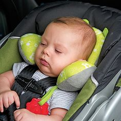 car seat pillow for when they are asleep that will keep their head from falling over.