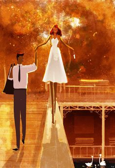 40 Romantic Digital Illustrations by Pascal Campion Paar Illustration, Couple Illustration, Digital Illustration, Image Couple, Couple Art, Pascal Campion, Wow Art, Art Graphique, Anime Chibi