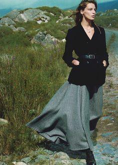 """""""Wild Irish Rose"""", Daria Werbowy photographed by Annie Leibovitz in Vogue US September 2013"""