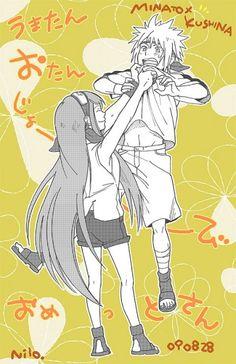 Kushina x Minato Naruto Girls, Anime Naruto, Kushina Y Naruto, Kakashi Itachi, Naruto Family, Naruto Fan Art, Naruto Couples, Naruto Cute, Naruto Funny