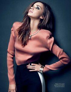 Victoria's Secret model Miranda Kerr graces the March cover of Middle Eastern magazine HauteMuse