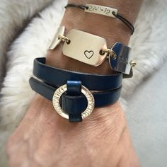 A touch of blue💙 Touch, Bracelets, Leather, Blue, Men, Jewelry, Fashion, Moda, Jewlery