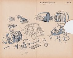 Isetta 300 Parts Plates Exploded Diagrams Fiat 600, Lit Motors, 1950s Car, Bmw Isetta, Piaggio Ape, Drawing Machine, Microcar, Reverse Trike, Miniature Cars