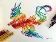 175- Rainbow Phoenix by Lucky978 on @DeviantArt