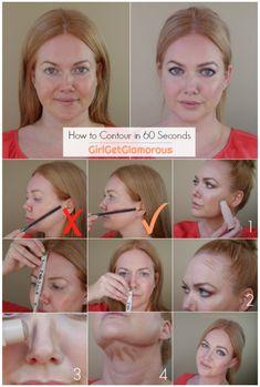 hacks every girl should know curls How to Contour Make Up Looks, Makeup Contouring, Skin Makeup, Drugstore Makeup, Makeup Brush, Makeup Hacks, Makeup Tips, Makeup Ideas, Beauty Secrets