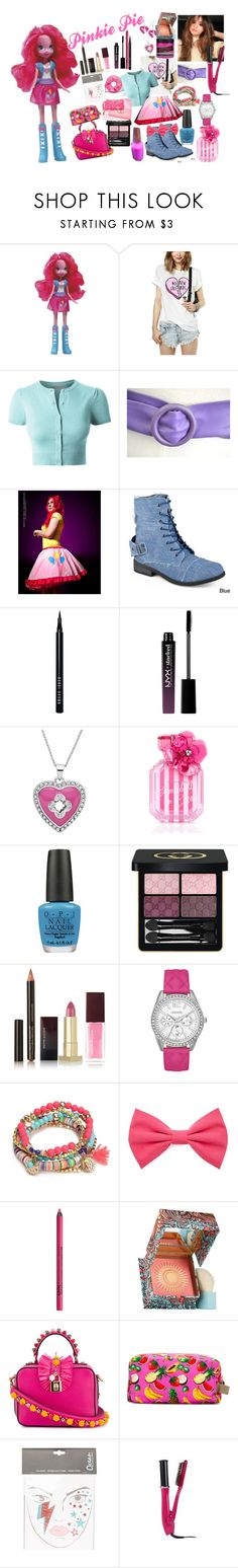 """Pinkie Pie"" by naomi-mimi-davies-brown ❤ liked on Polyvore featuring My Little Pony, LE3NO, Hailey Jeans Co., Bobbi Brown Cosmetics, NYX, Marie Claire, Victoria's Secret, OPI, Gucci and Kevyn Aucoin"