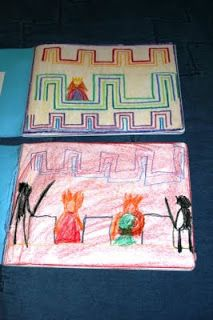 Waldorf ~ 1st grade ~ Form Drawing ~ Stories ~ main lesson book