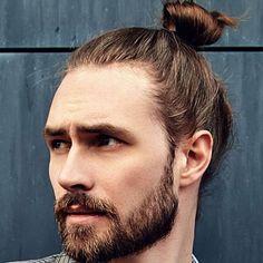 Man Bun Top Knot Brown Hair Shades, Brown Hair Colors, Straight Updo, Red Hair Men, Man Bun Hairstyles, Deep Set Eyes, Hair Cover, One Hair, Haircuts For Men