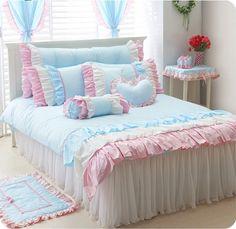High Fashion Bedding Sets at affordable price Lace Bedding, Duvet Bedding, Pink Bedding, Cotton Bedding, Luxury Bedding, Girls Bedroom, Bedroom Decor, Bedrooms, Bedroom Sets