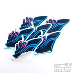 PINK DOLPHIN CLOTHING COMPANY DIE CUT CUSTOM VINYL STICKERS