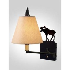 Steel Partners Moose Swing Arm Wall Lamp Finish: Architectural Bronze, Shade / Lens: Bungalow Green