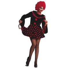 Disfraz de Payasa Diabolica Topos #disfraces #halloween