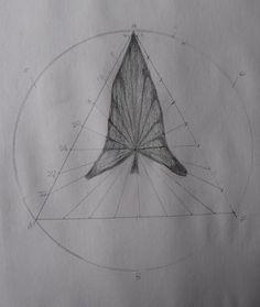 Age 12 ~ Geometric Drawing ~ Calla Lily Leaf ~ main lesson book
