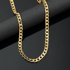 18K Yellow Gold Plated 24in Cuban Chain Necklace 4.7MMLENGTH: 24 inWIDTH: 4.7 MMLOBSTER CLAW CLASP 18K STAMPEDCOMES WITH A GIFT BOX Brief Specificatio... #jewelry #watches #fashion #necklaces #pendants #necklace #chain #yellow #gold #plated #cuban #mens