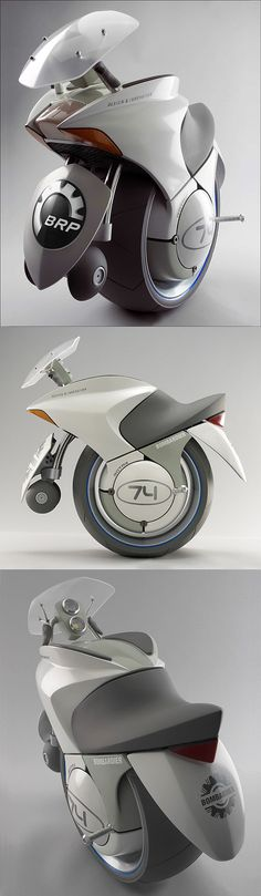♂ Embrio One-Wheeled Concept Motorcycle from http://www.darkroastedblend.com/2007/09/future-tech-review.html  Concentrated motorbyke!