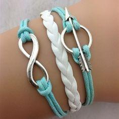Anchor Arrow Fashionable Leather Bracelet
