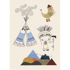 Teepee sticker - boy