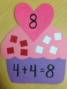 Valentine's Day Math Activities: If You Give A Cat A Cupcake - Addition with sprinkles! Perfect for Valentine's Day! Kindergarten Fun, Math Classroom, Fun Math, Teaching Math, Classroom Activities, Preschool Activities, Classroom Ideas, Kindergarten Addition, Subtraction Activities