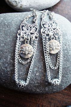 Boho ethnic σκουλαρικι με αλυσιδιτσες fotinimamali@yahoo.gr fotohandmadejewels.blogspot.com Boho, Bohemian
