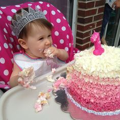 This princess who's not worried that her cake is bigger than her body