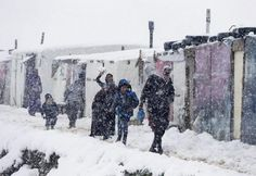 Syrian refugees walk outside tents during snowfall at a refugee camp during a wind storm in Zahle, in the Bekaa valley, Lebanon, January A storm buffeted the Middle East with blizzards, rain Syrian Refugee Camps, Syrian Refugees, Cold Pictures, Strong Wind, Winter Storm, Great Britain, Photo And Video, January 7, Lebanon