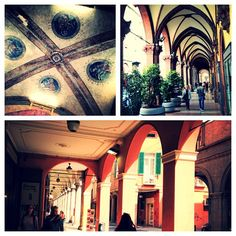 Bologna is the city with the most arcades in the world. Lovely! - Instagram by @anja_beckmann