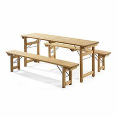 Outdoors: European Biergarten Table and Bench Set | Pinterest | Beer ...