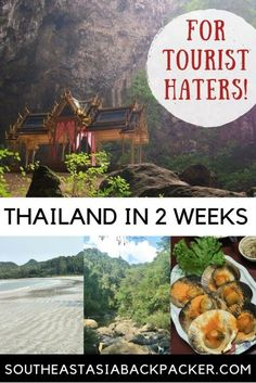 Want to travel to Thailand and avoid the crowds? This 2 Week Thailand Itinerary is For You! #Thailand #holiday #offthebeatentrack #adventure #escapism #backpacking #beaches #jungle #caves