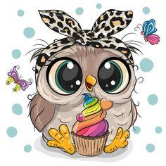 Cute Owl Drawing, Cute Drawings, Cute Owl Cartoon, Cartoon Art, Cartoon Owl Drawing, Doodle Art, Cute Owls Wallpaper, Baby Animal Drawings, Owl Pictures
