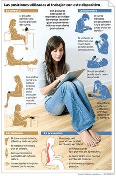 Ergonomía en el uso de tablets (infografía)