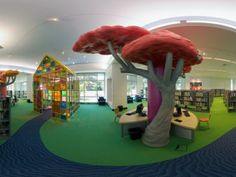 A lovely little space for children to explore the world of books! Benjamin L. Hooks Central Library, designed by Nancy Cheairs
