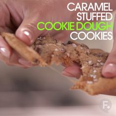 Caramel Stuffed Cookie Dough Cookies