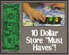 Great finds at the dollar store to teach everything from number combinations to retelling!