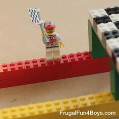 Build a LEGO Race Track for Hot Wheels Cars - Frugal Fun For Boys