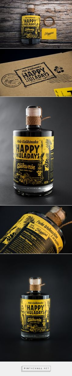 Christmas Printed Self-Promotion - Packaging of the World - Creative Package Design Gallery - http://www.packagingoftheworld.com/2017/02/christmas-printed-self-promotion.html(Bottle Design)
